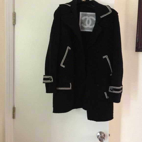 Chanel Coat Sz 44 Chanel coat Sz 44. I used to wear this coat when I wore Sz 10-14. CHANEL Jackets & Coats