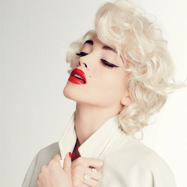 CR Fashion Book, Kitty Hayes, Blonde Marilyn Monroe With Braces