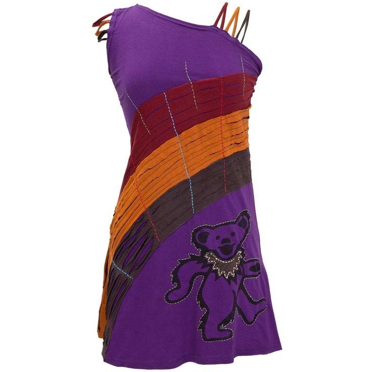Grateful Dead - Dancing Bear Juniors Single Shoulder Dress