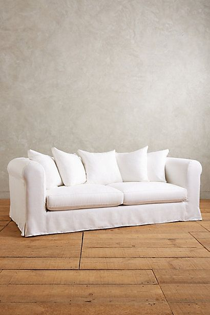 Basketweave Linen Novalie Slipcover Sofa Furniture