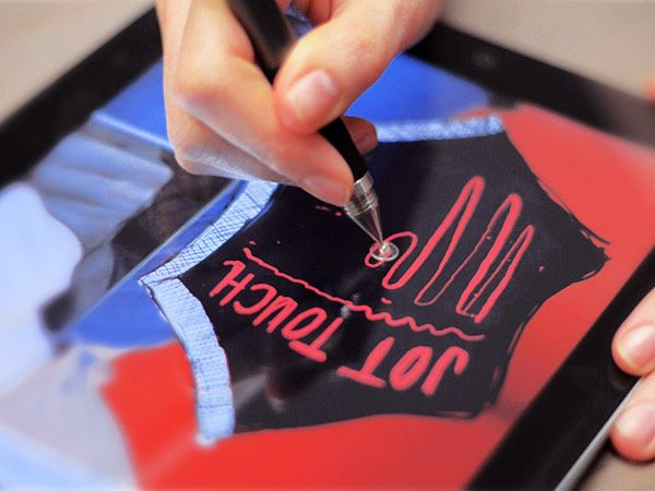 I need this badly.  Jot Touch 4 – iPad And Tablet Stylus by Adonit