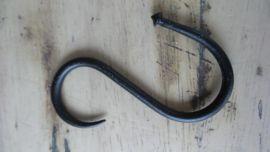 S haak zwart 9cm h- dia 2,5 cm