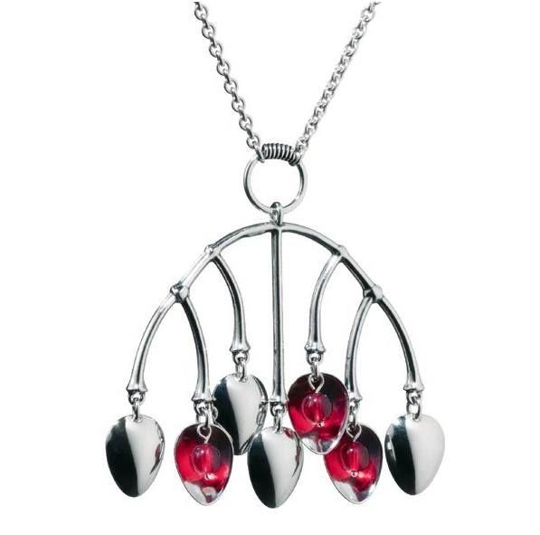 Tunturimarja (Mountain berry) necklace, Kalevala jewelry, Finnish design