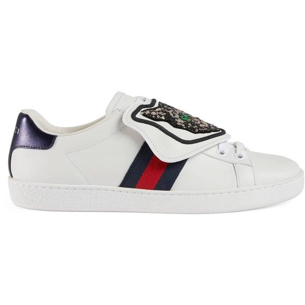 Gucci ace sneakers, White leather shoes