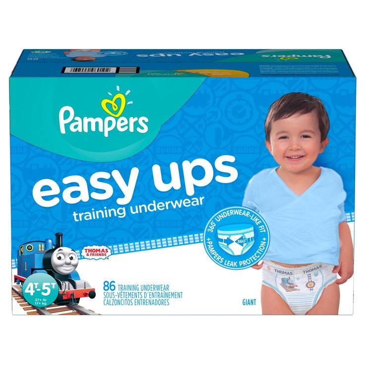 Pampers Easy Ups Boys Training Pants Giant Pack 4T-5T (86 ct)