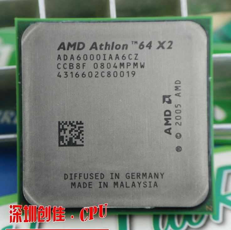 Free shipping AMD DUAL Core Athlon 64 X2 6000+ 3.0 GHZ Socket AM2 2mb cache CPU processor scrattered pieces processor