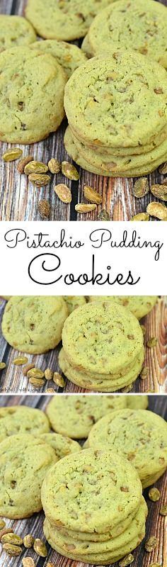 A delicious chewy cookie with a hint of saltiness from the chopped pistachios.