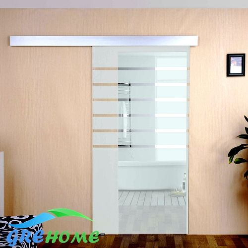 Aluminium alloy glass barn sliding door hardware -- More info could be found at the image url.
