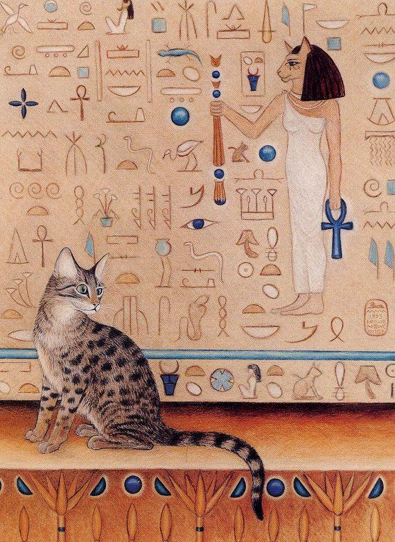 профессиональных коты в египте рисунок пьешь