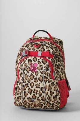 Print ClassMate® Medium Backpack from Lands' End - My daughter love the purple polka dot backpack!!