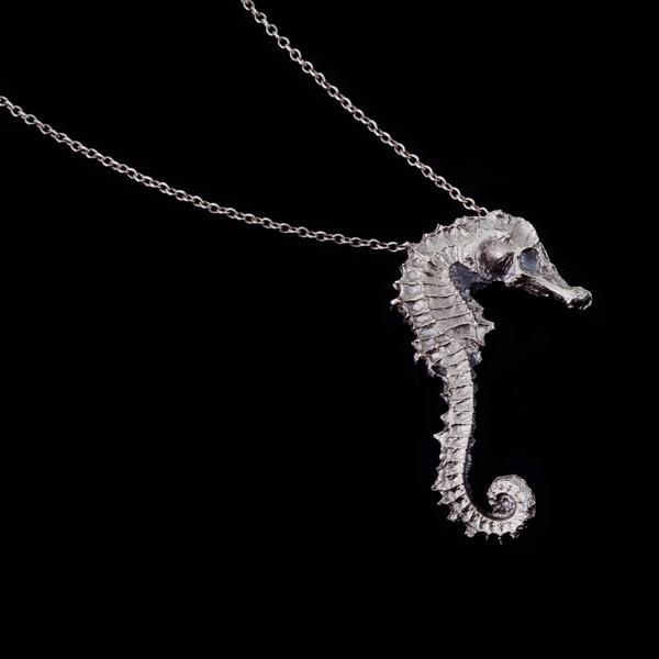 my sea horse...        fine silver pendant