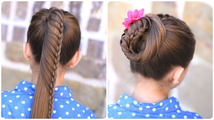 Lace Braided Ponytail and Updo   Cute Hairstyles and more Hairstyles from CuteGirlsHairstyles.com