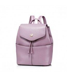 Кожаный женский рюкзак из welt Фиолетовый