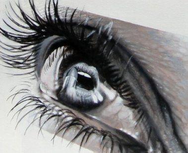 Excelentes dibujos de ojos que parecen fotografías reales