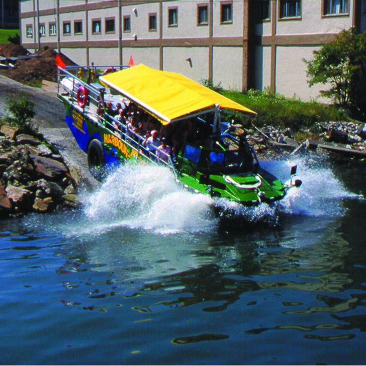 The Harbour Hopper's big splash! Halifax, NS