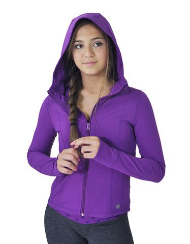 Girls Hooded Yoga Jacket