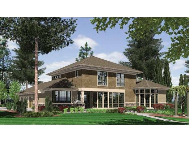 17 best images about house exteriors on pinterest house for Craftsman prairie style house plans