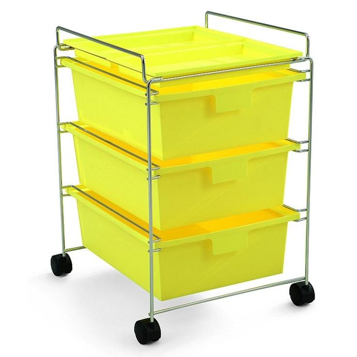 Rullakko GO, keltainen ryhmässä Kylpyhuone / Kylpyhuoneen sisustus @ RUM21 AB (106022)