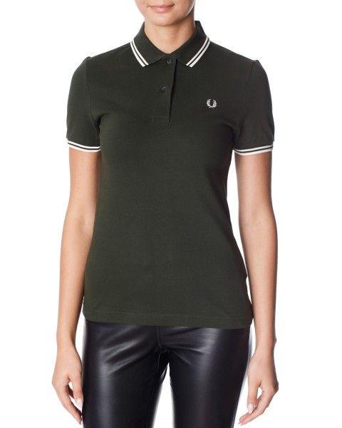 440 Fred Perry T/T FP SHIRT DRESS – Poloskjorter – Grønn