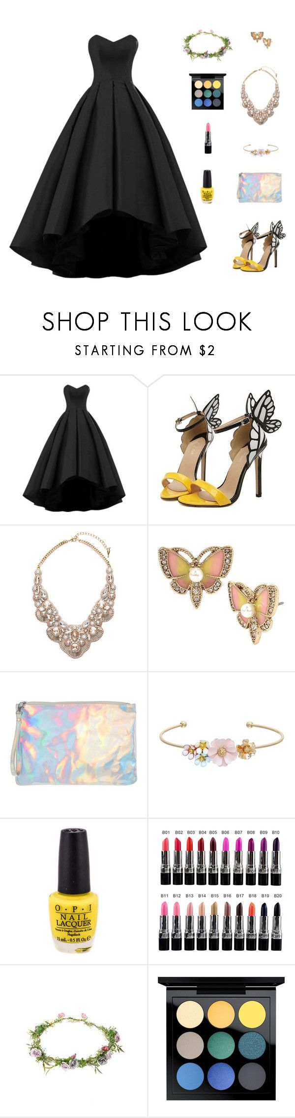 """""""Untitled #570"""" by awesomeandsuperanna ❤ liked on Polyvore featuring Chloe + Isabel, Betsey Johnson, 1&20 Blackbirds, LC Lauren Conrad, Topshop and MAC Cosmetics"""