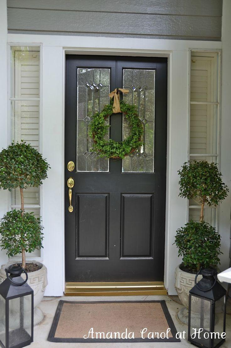Amanda Carol at Home: Front Porch topiary and lantern