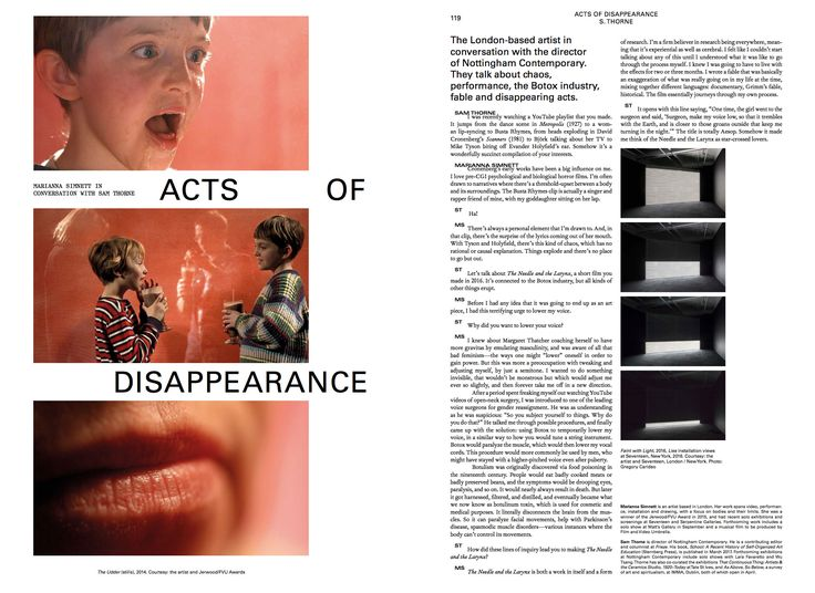 #moussemagazine #mariannasimnett #samthorne #art #contemporaryart