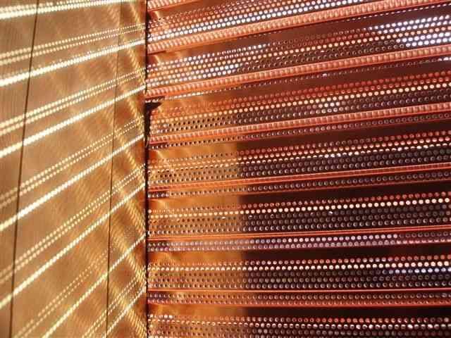 BLoK Hochbrand Kupfer Metallfassade Lochblechfassade kanten lasern profilieren Profilfassade