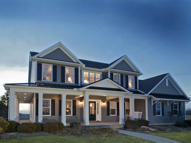 Schumacher Homes Americas Largest Custom Home Builder Love This But White With Black Shutters