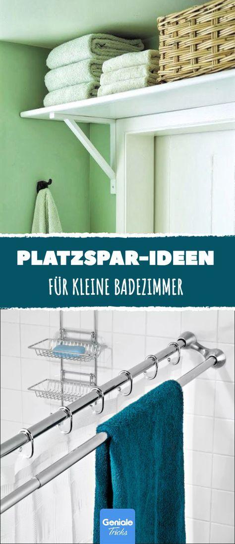 12 Platzspar-Ideen fürs Bad.