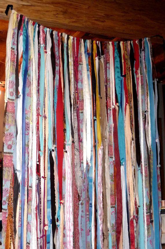 Fabric Garland Curtain 42 X 84 inch Custom Boho by DorothysRubies, $60.00
