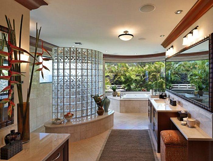 Les 25 meilleures id es de la cat gorie salle de bains brique sur pinterest mur placage en - Salle de bain tropicale ...