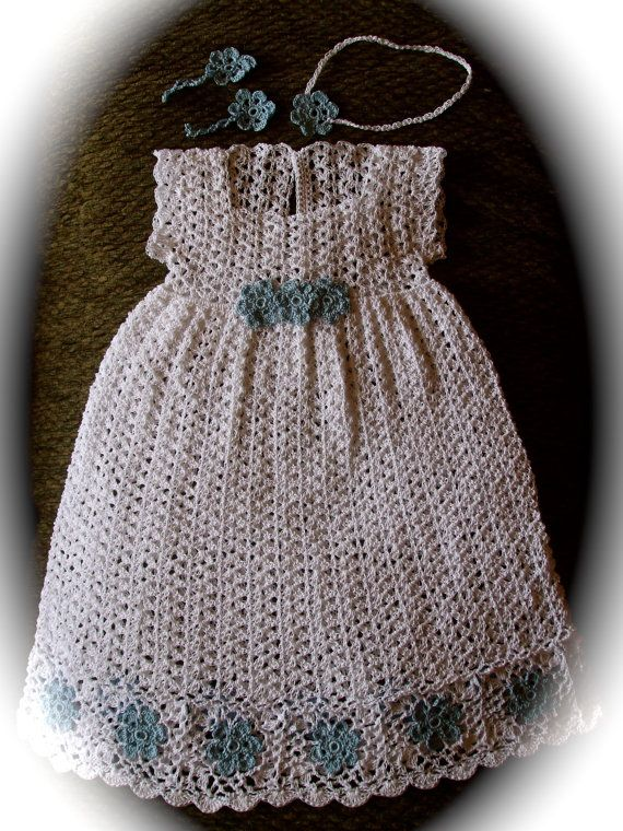 Vintage Crochet Baby Dress Pattern : 17 Best images about Crocheted Blessing Dresses on ...