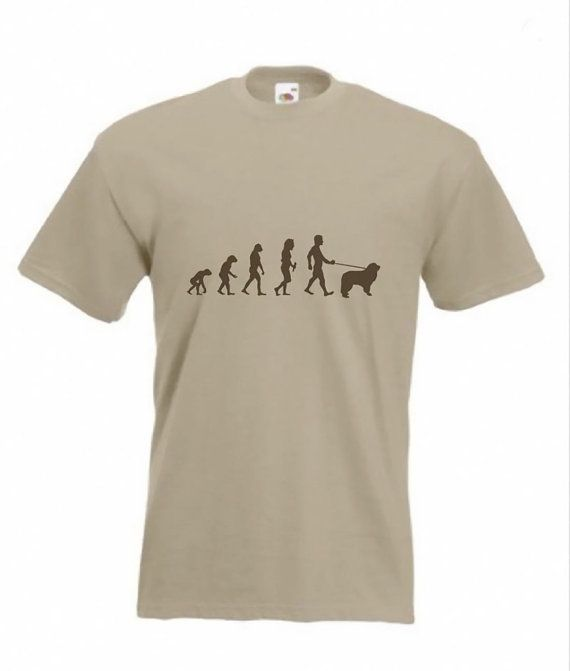 Evolution auf Neufundland T-shirt Die Evolution Sortiment von T-shirts Parodien auf Mans Evolution auf T-shirt. In verschiedenen Größen und Farben aus dem Drop-down-Menü am oberen Rand der Seite.  Dies ist ein einzigartiges Design durch Gordon T Alias CatBat. Ist erhältlich in verschiedenen Größen aus dem Drop-down-Menü am oberen Rand der Seite. Es wird einzeln gedruckt, von Hand auf höchstem Niveau mit einer Textil-Farbe, die ist absolut dauerhaft. Meine ursprüngliche Kunst ist erstellt von…