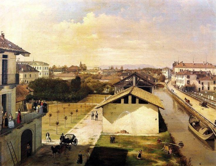 Veduta del Naviglio di San Marco dalla terrazza di Ca' Medici, Milano, 1837