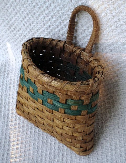 Door Basket Handwoven  Teal by basketsbyrose on Etsy, $20.00