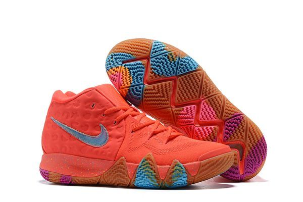 2018 Mens Nike Kyrie 4 Lucky Charms Bright Crimson Multicolor BV0428-600-2 85abc557d