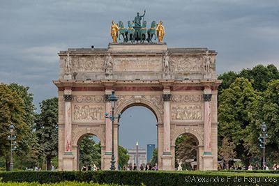 Triumph Arch of the Carrousel, Paris, France
