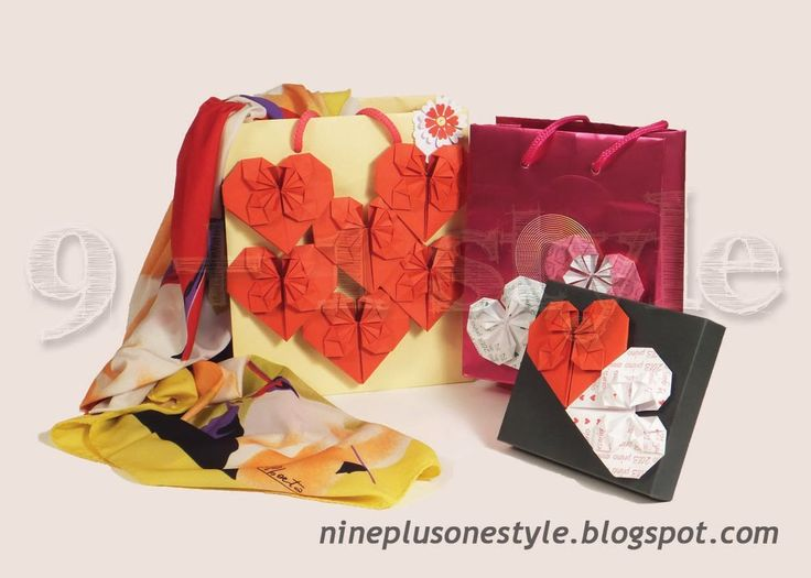 La borsetta si riveste di cuori origami - A shopper bag with origami hearts