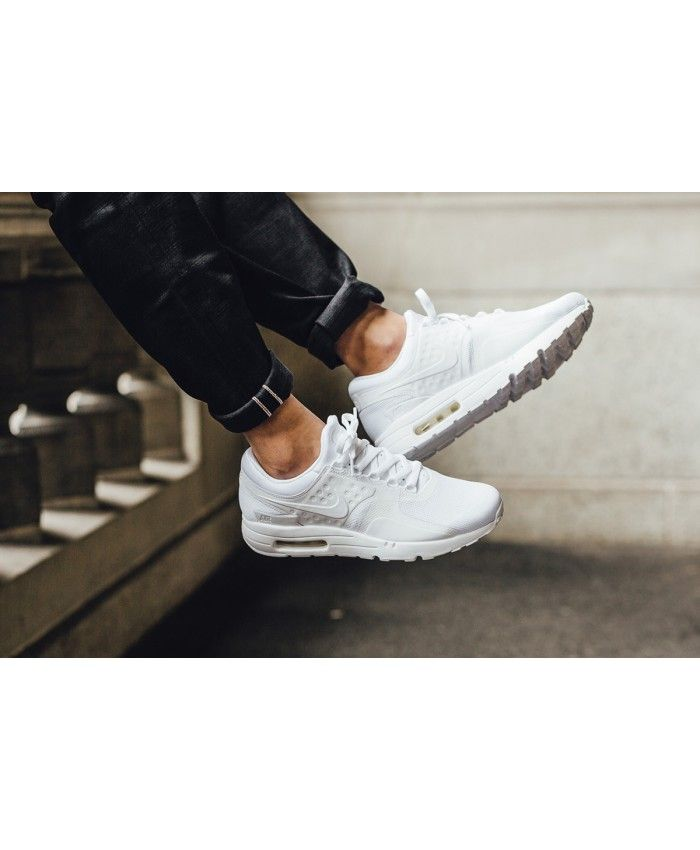 Air Max Zero Essential White Wolf Grey Pure Platinum Mens