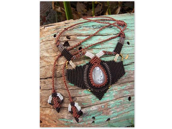 Solar Quartz Tribal necklace  handcrafted by MundialTreasures