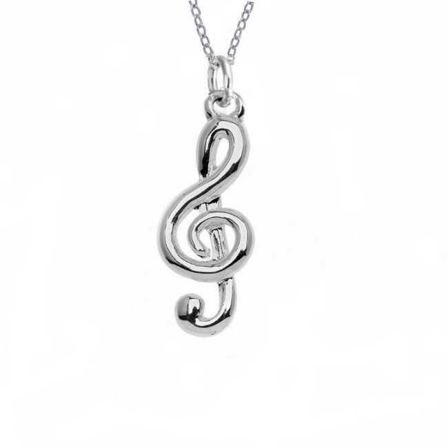 """Joyful Noise Necklace  This would make a great gift for music lovers.  This joyful noise necklace will add a touch of sparkle from day to night.   You can choose to include a Bible verse card with the following verse: """"Make a joyful noise to the Lord, all the earth; break forth into joyous song and sing praises!"""" - Psalm 98:4"""