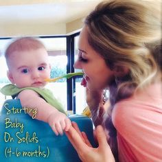 Starting Baby on Solids (4-6months).  How to start baby on solid foods, homemade solids.