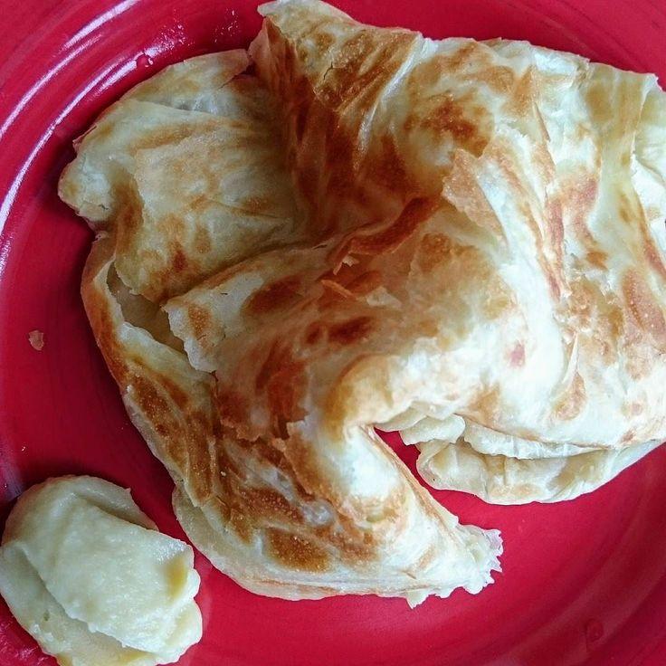 Baby Noah's lunch - homemade roti canai with homemade durian kaya. #asianfood #durian #kaya #roti #malaysianfood #jackiemlife