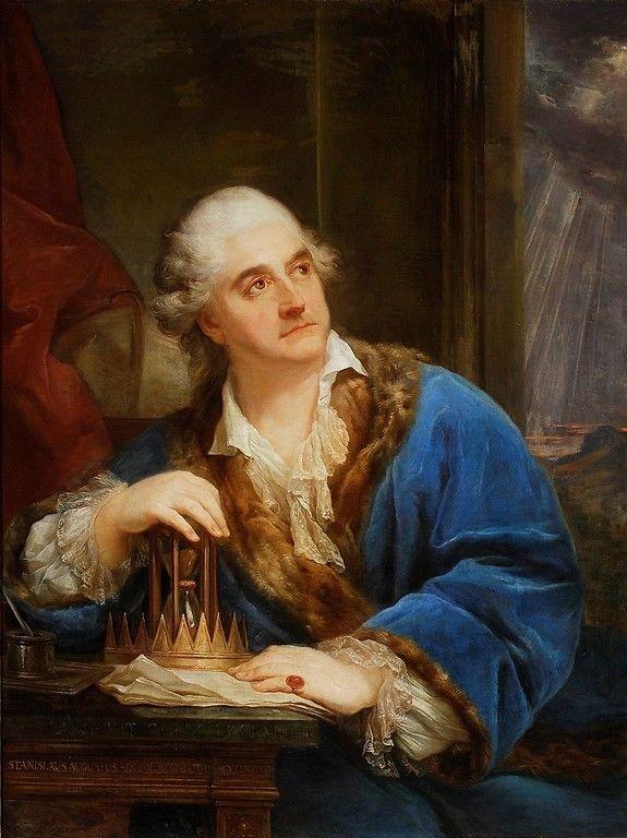 Portret Stanisława Augusta Poniatowskiego z klepsydrą, Baciarelli, 2 poł XVIII