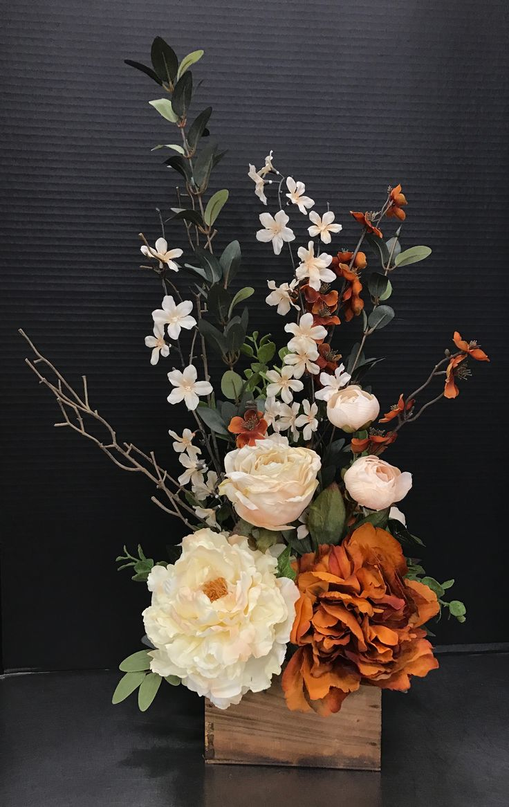 Rust And Cream Classic By Andrea Michaels Custom Floral