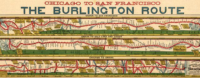#Map of #Chicago to S.F. via Burlington #Railroad (1879) #SanFrancisco: Antiques Maps, Railroad Maps, Burlington Route, American Railroad, Historical Maps, Route Chicago, San Francisco, Antiques Railroad, Beautiful Maps