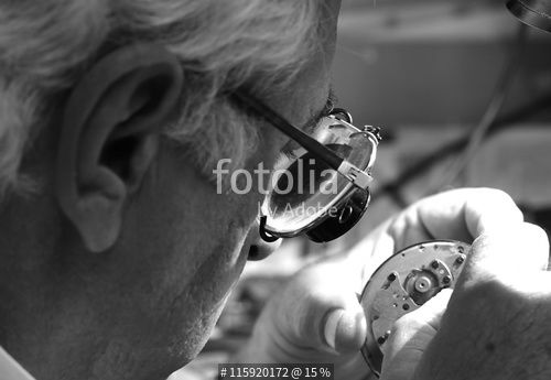 """Antique clock repair man"" Stock photo and royalty-free images on Fotolia.com - Pic 115920172"
