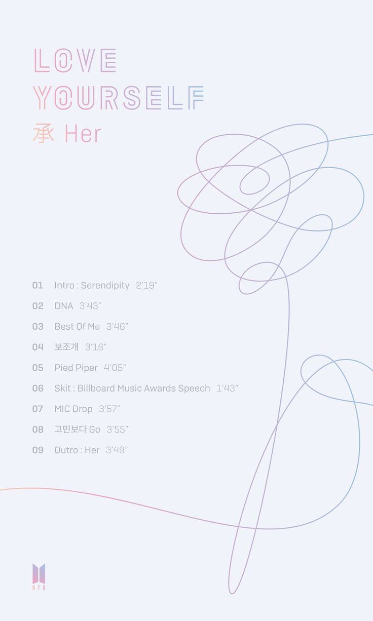 Love Yourself TRACK LIST CAME OUT!!! Less than a week until their comeback