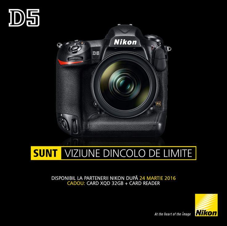 Incepand din 24 martie 2016, varful de gama Nikon, aparatul foto DSLR FX Nikon D5 va fi disponibil in Romania la partenerii oficiali Nikon Professional.