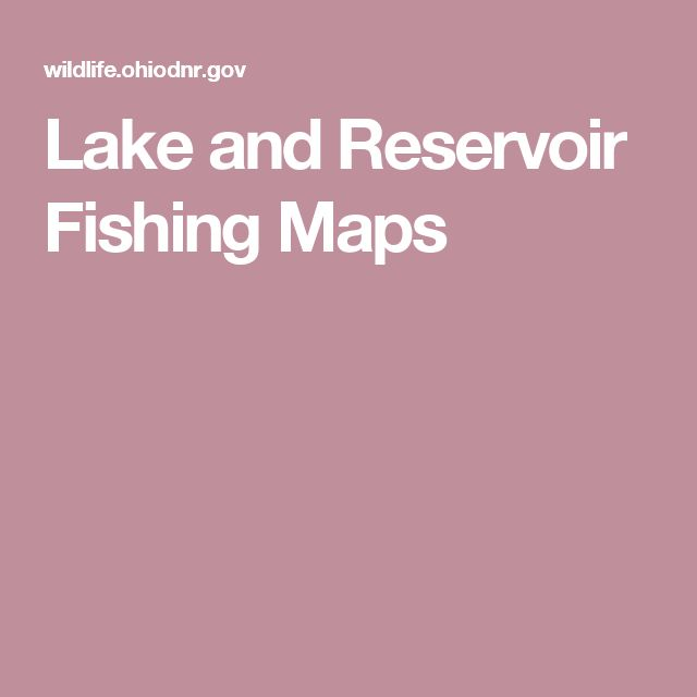 Lake and Reservoir Fishing Maps